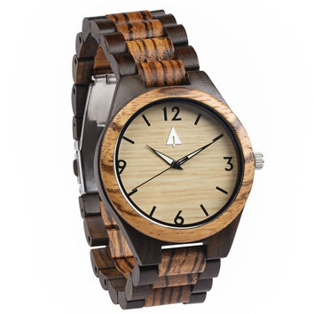 All Wood Watch // Zebrawood + Ebony 04