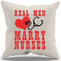 Real Men Pillow Case