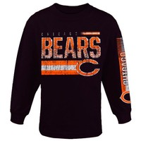Chicago Bears Toddler Rewind Forward Long Sleeve T-Shirt - Navy Blue
