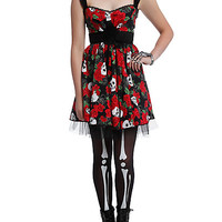 Day Of The Dead Lace-Up Dress