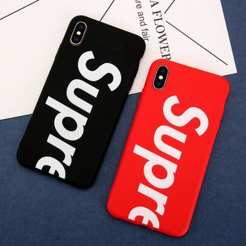 Supreme Non-slip Case for iPhone6/6s,iPhone6/6s plus,iPhone7/8,iPhone7/8plus,iPhone X,iPhone XR,iPhone XS MAX Gift