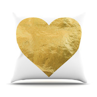 "KESS Original ""Heart of Gold"" Outdoor Throw Pillow"