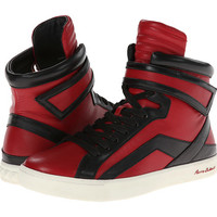 Pierre Balmain Colorblocked Leather High Top Sneaker