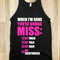 When I'm Gone-Unisex Black Tank