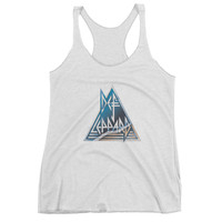 The Def Lep Pyramid Band Tee Racerback