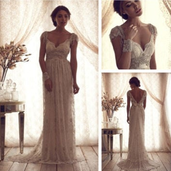 lace vintage style wedding dress
