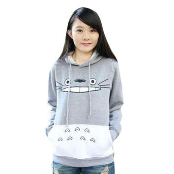 Hot Sale Autumn Fashion Men Women Cartoon Totoro Hoodie Sweatshirt Unisex Pullover Sweatshirt Spring Casual Cute Hoodies Hooded