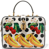 Dolce & Gabbana - Printed textured-leather tote