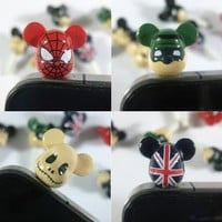 BDS-Ear Cap UK Flag Bear / Ear Jack / Dust Plug Fit for iPhone 2g iPhone 3g / 3gs iPhone 4 iPhone 4