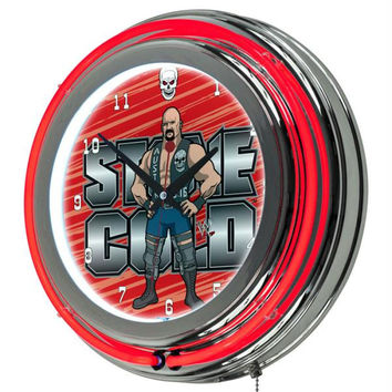 WWE Kids Stone Cold Neon Clock - 14 inch Diameter