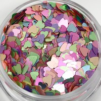 Glitter Hearts- Light Rainbow