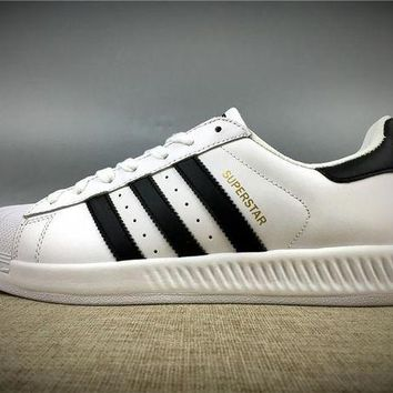 VON3TL 2017 Newest Adidas Originals Superstar White / Black Gold Metallic Sneakers Classic Casual Shoes