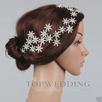Jewelry Crystal Stars Chain Headband Wedding Prom Crown Tiara Hair Accessory