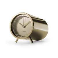 tube clock brass