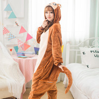 Cartoon animal costume Monkey Onesuits Pajamas adult Pyjamas Unisex pijamas ,sleepwear ,pajamas set