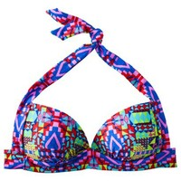 Xhilaration® Junior's Halter Swim Top -Geometric Print