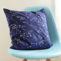 Night Sky Star Constellations Cushion Cover