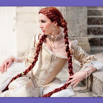 2 Medieval Renaissance costume wig SCA ren faire by Puppycatmeow