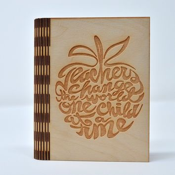 Laser Cut Notebook - Teacher apple