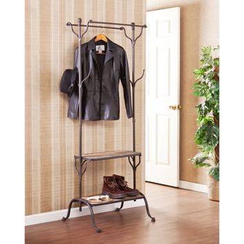 Harper Blvd Ashbury Entryway Shelf/ Hall Coat Rack Tree | Overstock.com Shopping - The Best Deals on Accent Pieces