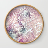 koi fish Wall Clock by printapix