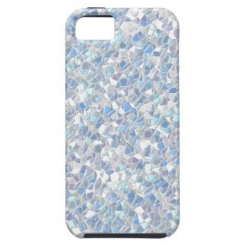 Pearly Blue Opal Mosaic Tiles iPhone 5 Case from Zazzle.com