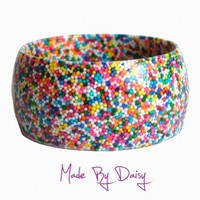 Rainbow Cake Sprinkle Bracelet from Made By Daisy | Made By Made By Daisy | £25.00 | Bouf