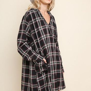 Flannel Hooded Dress