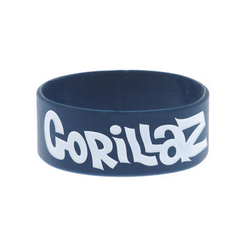 Gorillaz Blue Group Rubber Bracelet Hot From Hot Topic