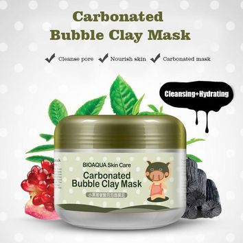 Bubble Clay Face Mask Moisturizing Anti-Aging Acne Hyaluronic Treatment