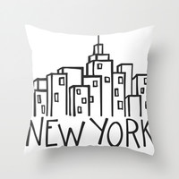 new york Throw Pillow by Molly Ennis