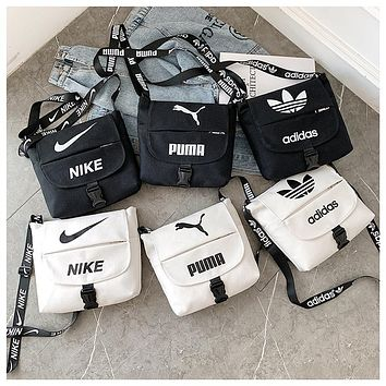 NIKE ADIDAS PUMA Sports Bag Single Shoulder Bag Slant Bag Recreational Men's and Women's Bags