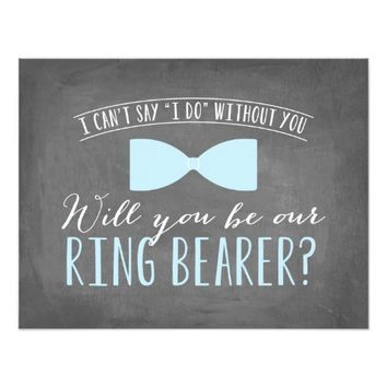 Will you be my Ring Bearer ? | Groomsmen 4.25x5.5 Paper Invitation Card