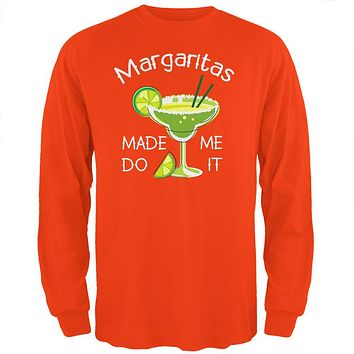 Cinco de Mayo Margaritas Made Me Do It Mens Long Sleeve T Shirt