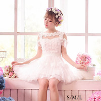 S/M/L Little White Fairy Butterfly Dress SP152335