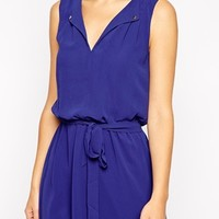 Warehouse Exclusive Open Neck Skater Dress at asos.com