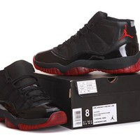 Air Jordan 11 Retro AJ11 Black/Red Basketball Sneaker Size US 8-13