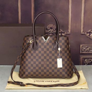 LV Women Shopping Bag Leather Satchel Crossbody Shoulder Bag-11