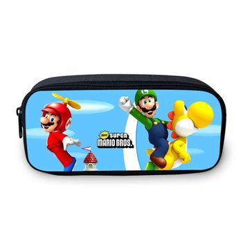 Super Mario party nes switch VEEVANV Brand  Pencil Case Cartoon Printing Girls Wallets Children Purse School Office Pen Pouch Boys Stationery Box AT_80_8