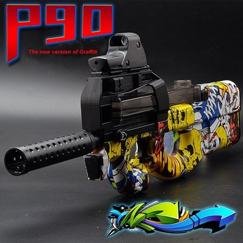 P90 Electric Toy Gun Paintball Live CS Assault Snipe Weapon