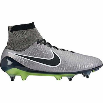 nike magista obra SG-PRO mens football boots 641325 soccer cleats (US 8.5, metallic pewter black white black 010)