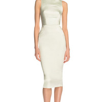 Duchesse Satin Dress by Rochas Now Available on Moda Operandi