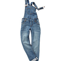 GB Girls 7-16 Denim Overall - Indigo