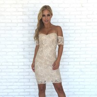 Natural Wonders Off Shoulder Lace Dress