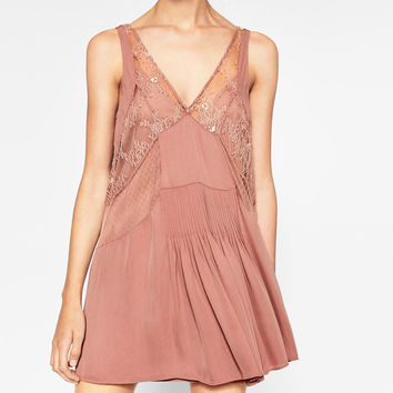 MINI SLIP DRESS