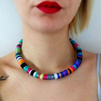 Choker, Tribal Necklace, Choker Necklace, Rope Choker, African Necklace, Aztec Necklace, Tribal Necklace, African Jewelry, Africa Necklace