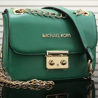 MK Women Shopping Bag Leather Satchel Crossbody Shoulder Bag-9