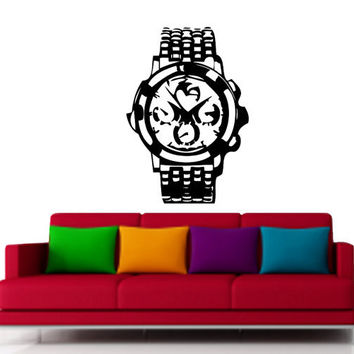 Large Luxury Watch Vinyl Design for Living room and office Space.