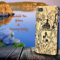 Disney Collage Art - Print on hard plastic for iPhone case. Please choose the option.