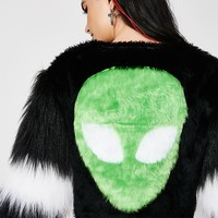 Alien Funky Cropped Fur Jacket